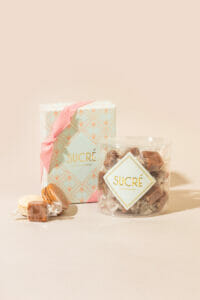 Thumbnail photo of Sold Out – 8 piece Vanilla/Salted Caramel Macaron Collection + Sucré Crunchy Caramels